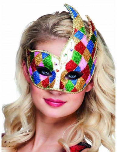 Bunte venezianische Augenmaske