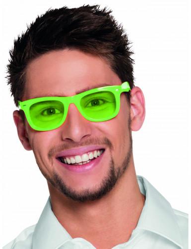 50er Jahre Party-Brille für Erwachsene neongrün