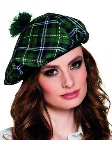 Grüne Schottenmütze für Erwachsene