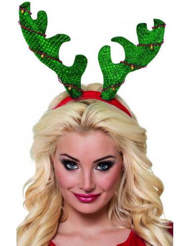 Rentier Haarreif in Weihnachtsbaumoptik