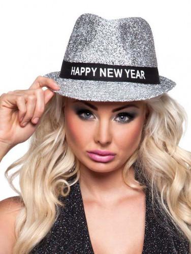 Borsalino-Hut Happy New Year für Damen silber