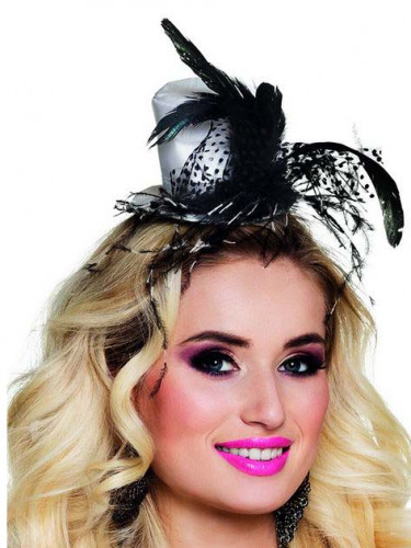 Edler Mini-Hut mit Federn für Damen