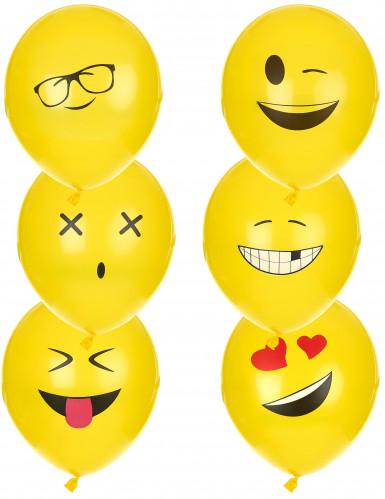 6 Ballons Imoji™ 24 cm