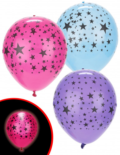 5 LED Luftballons Sterne Illooms ® bunt