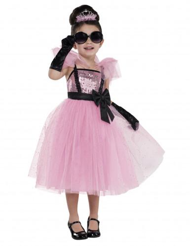 Diva-Kostüm für Kinder in Rosa
