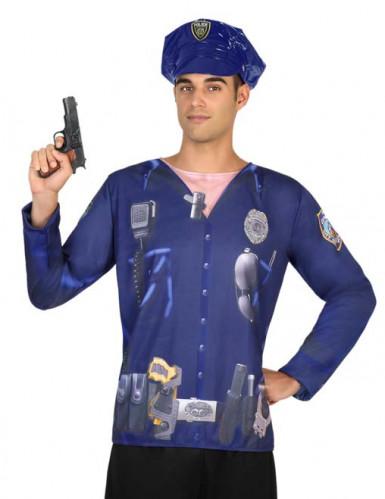 Polizei T-Shirt für Herren blau