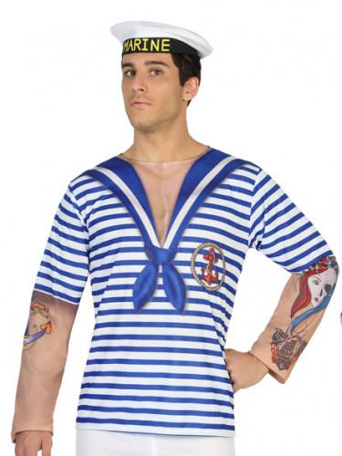 Matrosen-Shirt für Herren blau-weiß