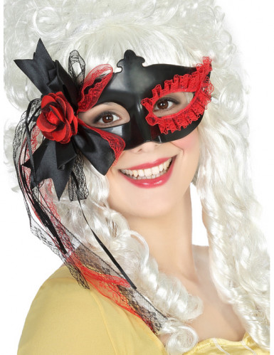 Augenmaske mit Spitze und Rose für Damen