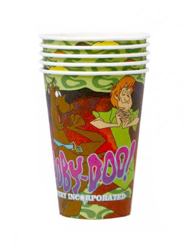 4 Partybecher im Scooby-Doo Design