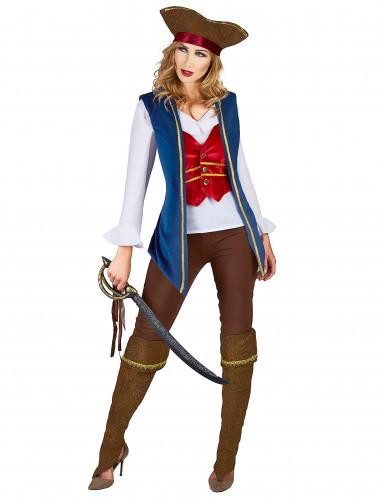 Piratenkostüm aus Samt für Damen