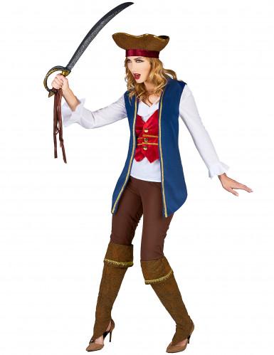 Piratenkostüm aus Samt für Damen-1