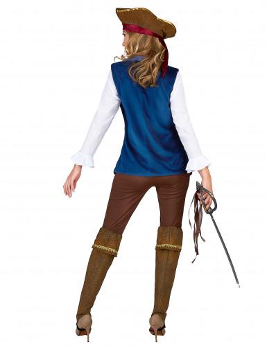 Piratenkostüm aus Samt für Damen-2