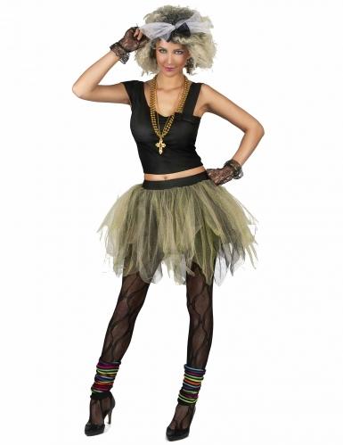 80er Disco Popstar Kostüm für Damen -2