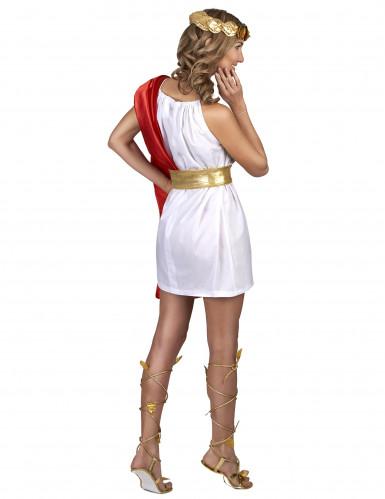 Römerin Kostüm für Damen rot-weiß-gold-2