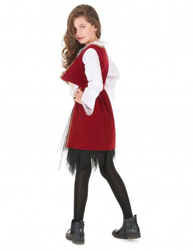 Piratenkostüm mit Tüllrock für Mädchen schwarz-weiss-rot-2