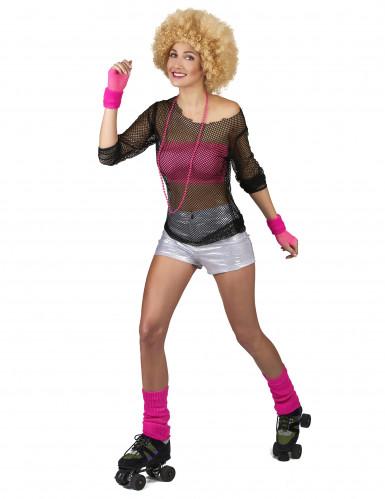 Disco-Shorts für Damen silber-1