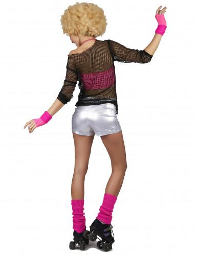 Disco-Shorts für Damen silber-2