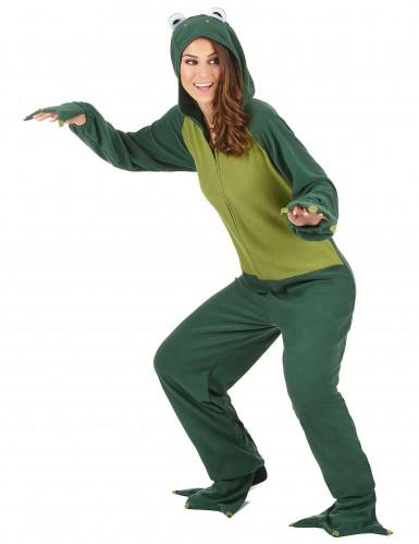 Lustiges Frosch Damen-Kostüm grün-1