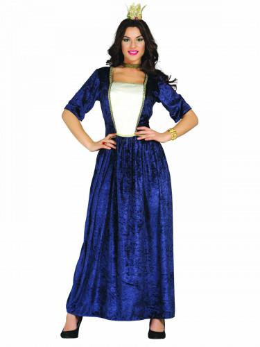 Kostüm mittelalterliche Dame blau
