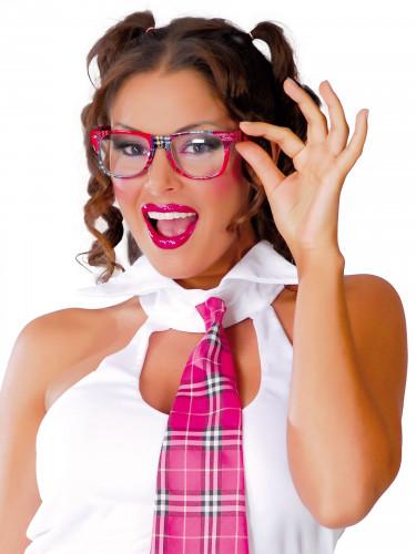 Schulmädchen Spaßbrille für Damen