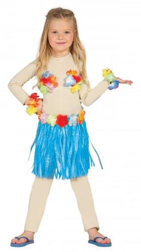 Hawaii-Set für Kinder blau-bunt