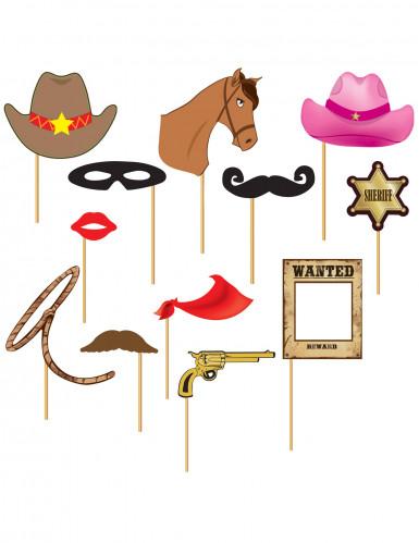Photobooth Set Cowboy 12-teilig