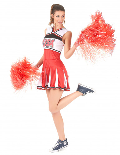 Cheerleader Kostüm USA für Damen-1