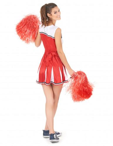 Cheerleader Kostüm USA für Damen-2