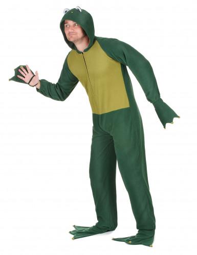 Lustiges Frosch Herrenkostüm grün-1