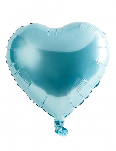 Folienballon Herz hellblau 46cm