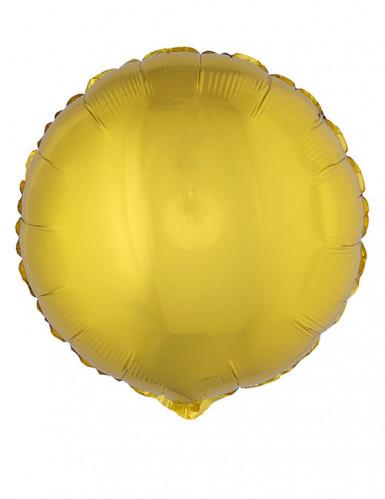 Folienballon rund golden 45 cm