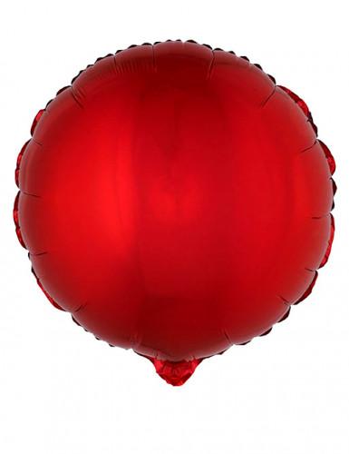 Folienballon rund rot 45 cm