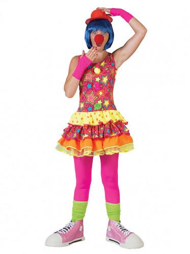 Clownfrau Faschingskostüm für Damen bunt