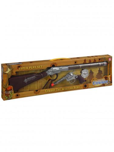 Cowboy Spielzeug-Gewehr-Set mit Geräuschfunktion