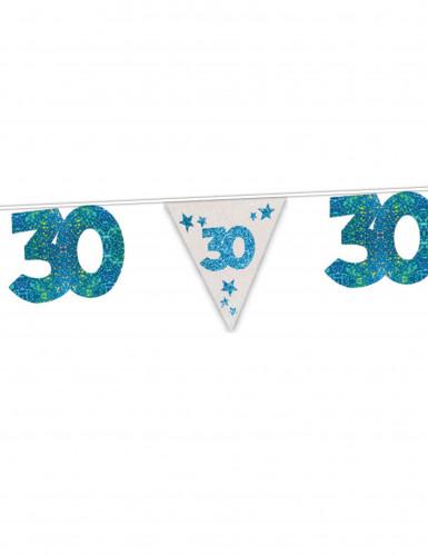 Blaue Girlande zum 30. Geburtstag