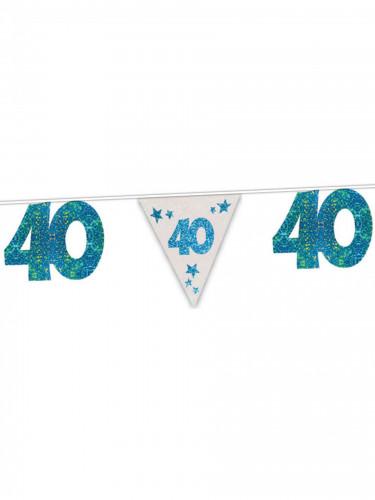 Blaue Girlande 40. Geburtstag