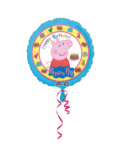 Folienballon Happy Birthday Peppa Wutz™ 43 cm