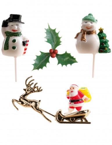 6 Weihnachtsdeko-Figuren für Stollen und Kuchen