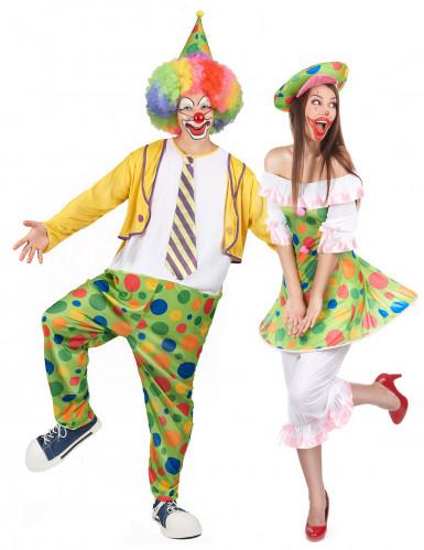 Paarkostüm Clown für Erwachsene