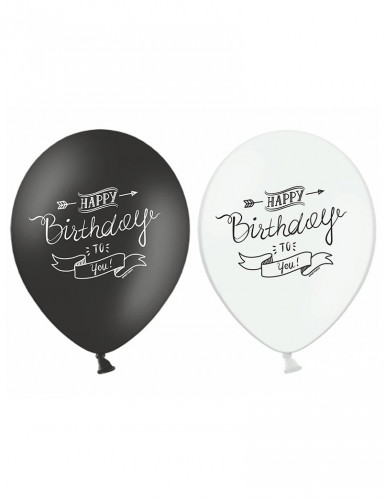 6 Ballons Happy Birthday
