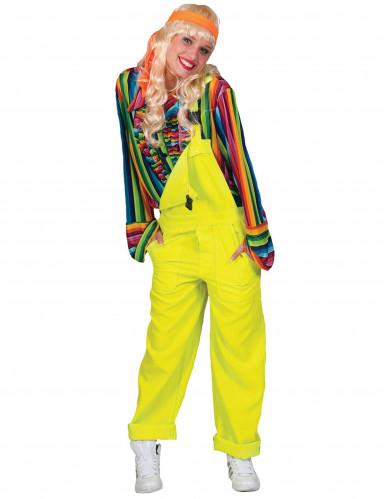 Latzhose Kostüm Overall für Erwachsene neongelb