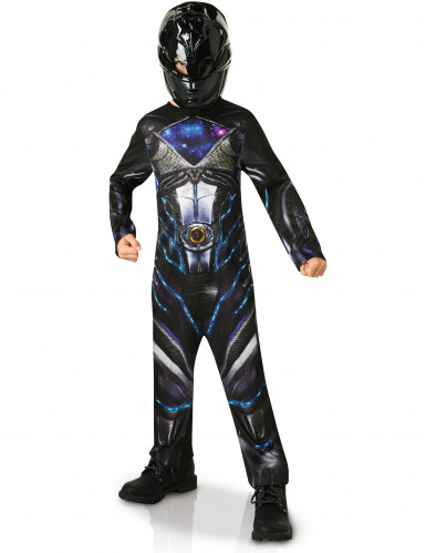 Schwarzes Power Rangers™ Kostüm für Kinder
