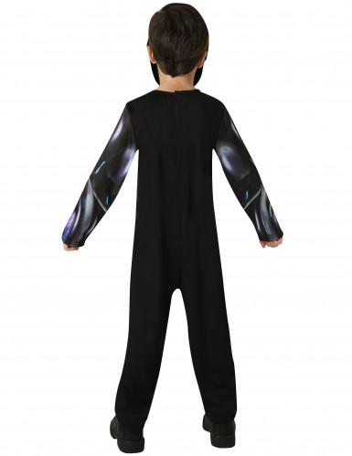Schwarzes Power Rangers™ Kostüm für Kinder-2