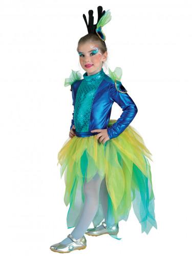 Pfauen - Kostüm für Mädchen