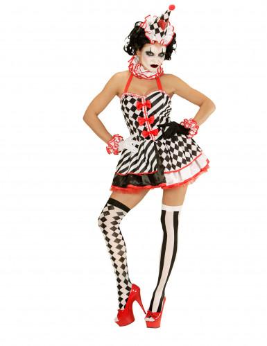 Kostüm Mimikerin mit kurzem Petticoat für Damen-1