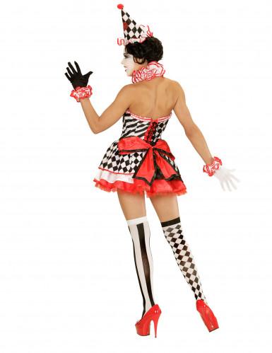 Kostüm Mimikerin mit kurzem Petticoat für Damen-2
