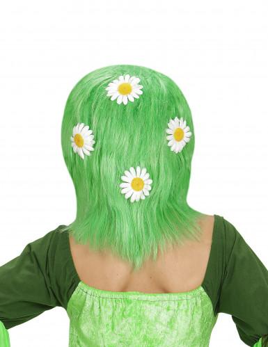 grüne Perücke mit Margeriten für Damen-1