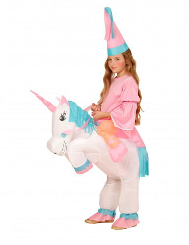 Aufblasbares Prinzessin und Einhorn Kostüm für Kinder-1
