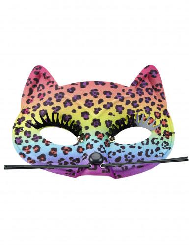 Süße Leopard-Maske für Damen bunt-1