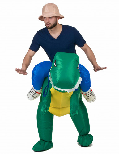Verkleidung Erforscher auf dem Rücken eines Dinosauriers-1